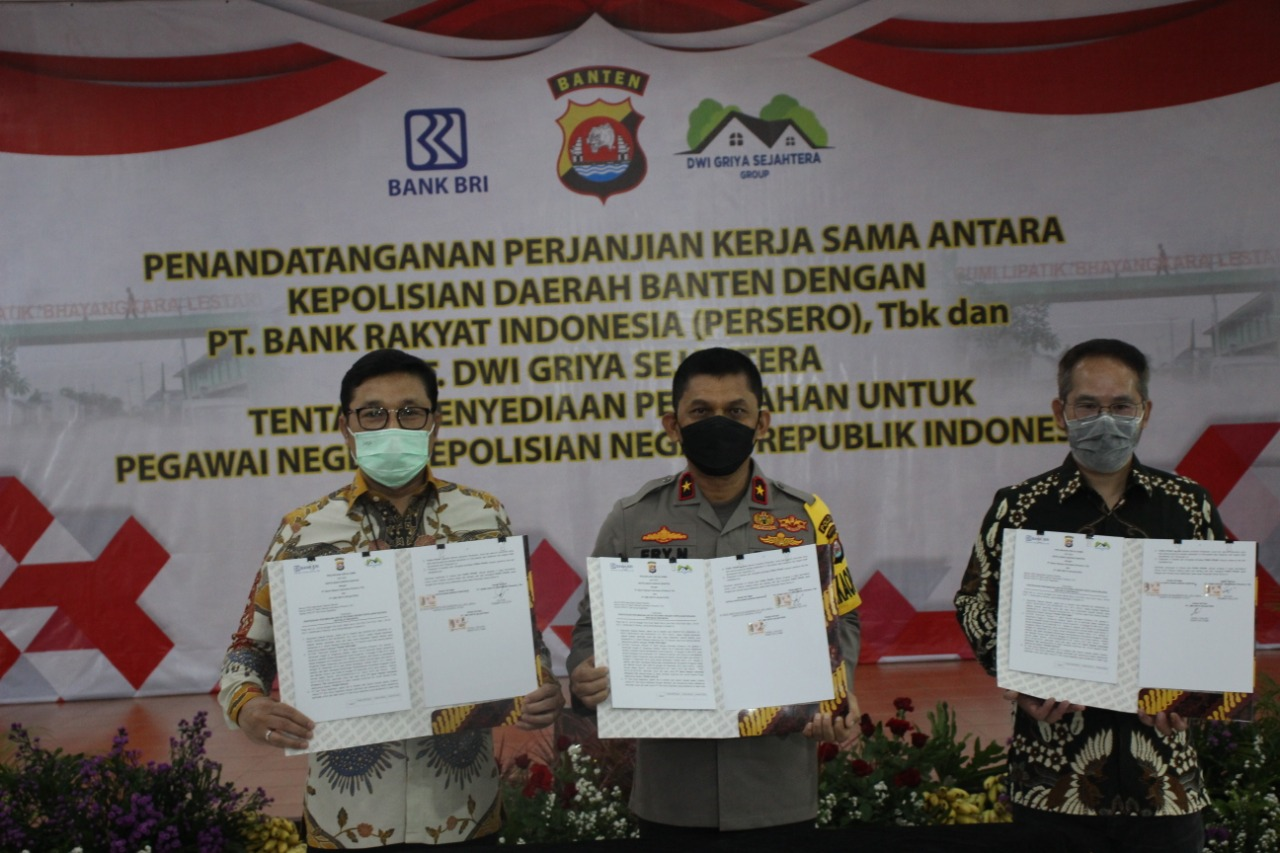 Banten Police with Bank BRI and PT Dwi Griya Sejahtera Collaborate to Provide Housing for Police Members - POLRI PRIVATE DIVISION