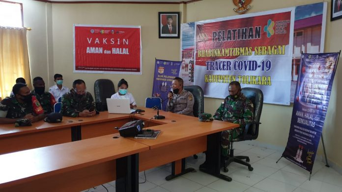 Bhabinkamtibmas and Babinsa Receive Training as a Covid-19 Tracer from Health Care Workers - POLRI PRIVATE DIVISION