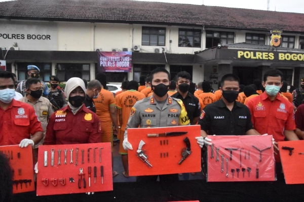 Bogor Police Unloads Curanmor Syndicate, 60 Suspects Successfully Arrested