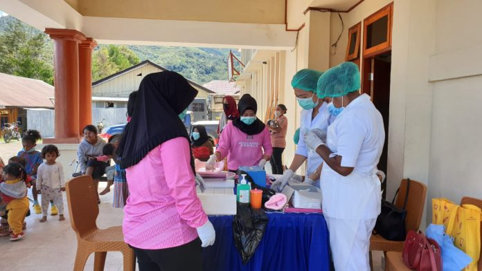 Healthy for Toddlers and Pregnant Women Bhayangkari Conduct Routine Posyandu - POLRI PRIVATE DIVISION