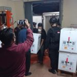 Joint Officer Sinovac Vaccine Security at the UPTD Cement Warehouse - POLRI PRIVATE VISION DIVISION