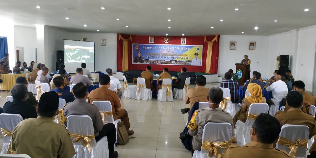 Kapuas Hulu Police Holds Coordination Meeting and FGD to Discuss Forest and Land Fire Prevention and Management - POLRI PRIVATE DIVISION