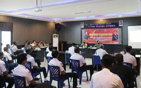 Ngawi Police Holds FGD with Security Guard - Journal of Security