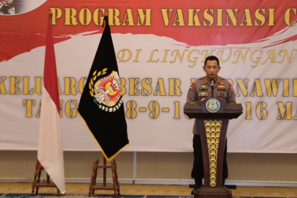 Polri Holds Covid 19, 2,282 Vaccinations for Retired Police Officers