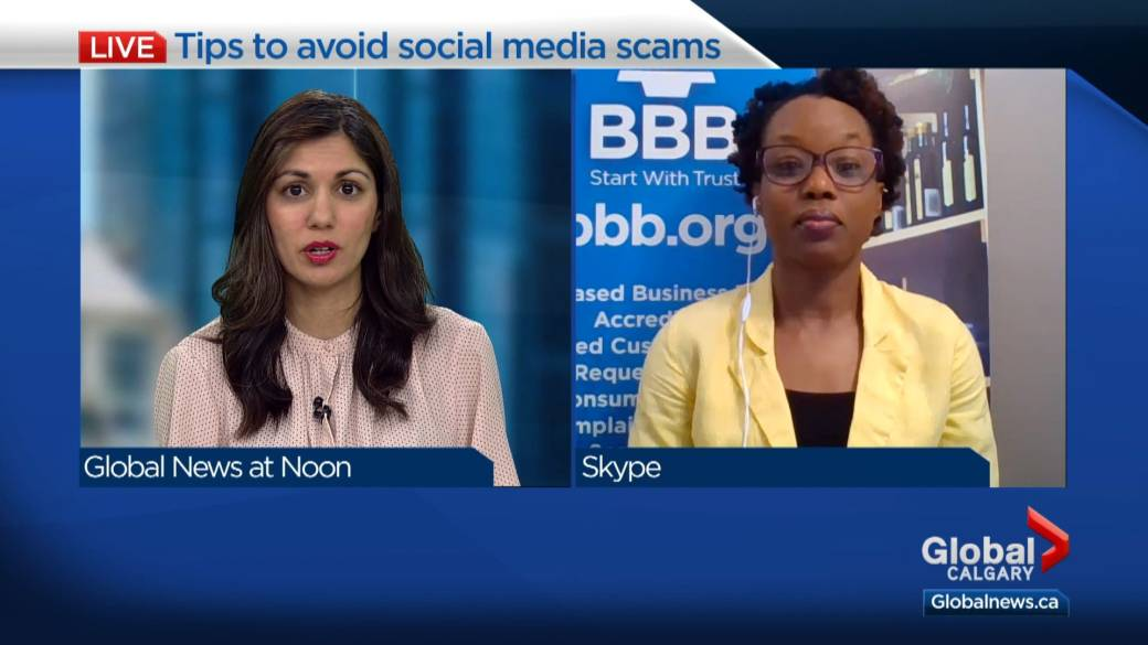 Click to play video: 'Tips to avoid social media scams while self-isolating due to COVID-19'