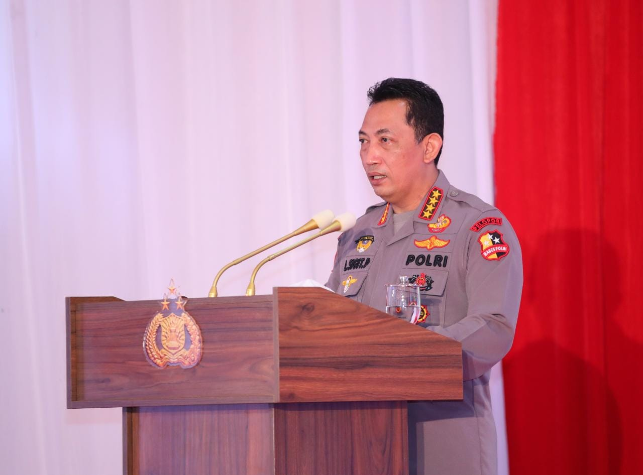 The National Police Chief Opens the National Meeting of the Republic of Indonesia then 2021 - POLRI PRIVATE DIVISION
