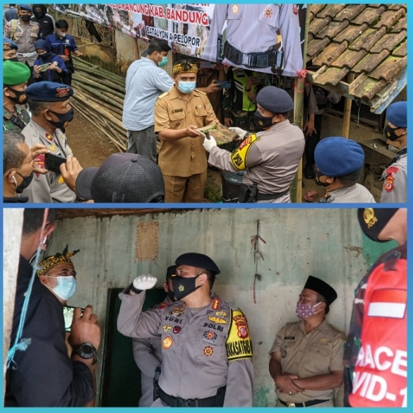 The newest program, West Java Police Mobile Brigade to renovate the houses of residents in the assisted villages