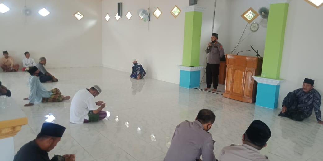This is the Message of the Kamtibmas of the Head of Kintom Police at the Ar-Rahmah Nambo Mosque - POLRI PRIVATE DIVISION