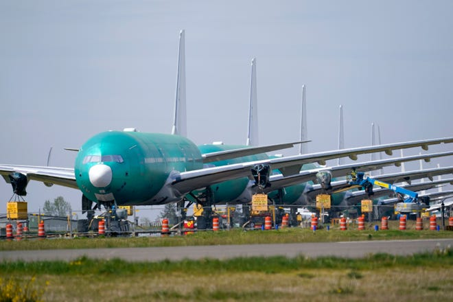 Boeing's first-quarter loss was $1.53 per share. Analysts expected a loss of 97 cents per share, according to a FactSet survey.